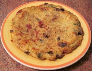 mascarpone pasta fritatta