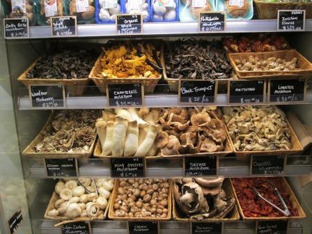 Wild mushrooms at Eataly