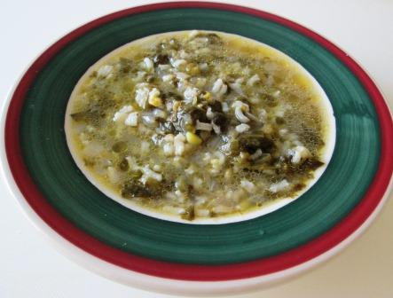 Day 3: Escarole and Rice Soup