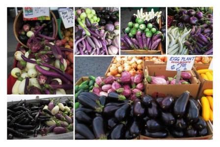 Greenmarket eggplants 2