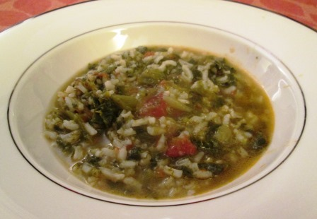 scarole and rice soup