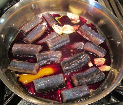 eels 2 in pan