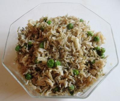 rice peas dill