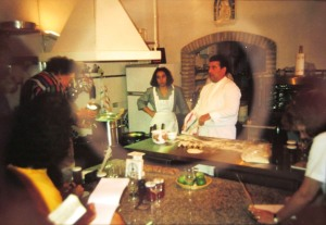 Cooking demonstration by chef Mario Lo Menso
